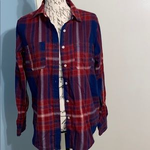 MOSSIMO red and blue plaid